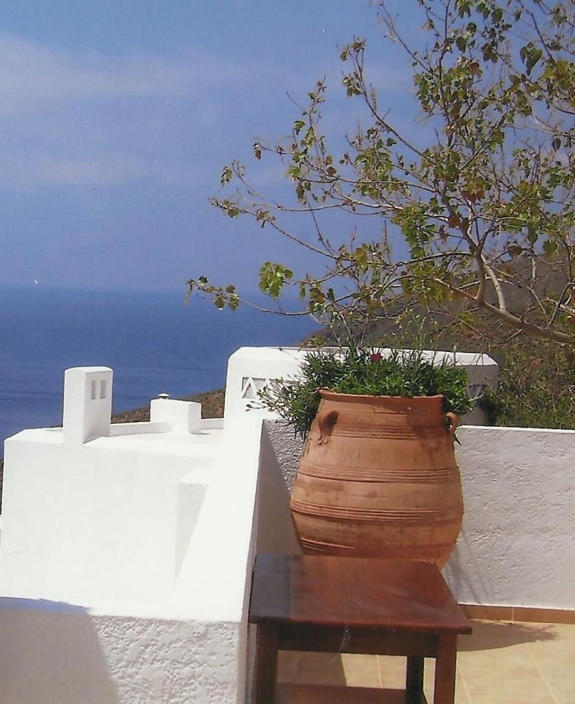 Der Blick vom Hotel Aigialis Griechenland