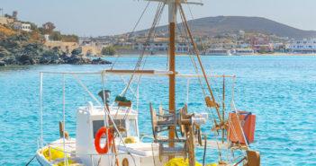 Boot, Schiff, Insel, Kykladen, Griechenland, Meer, Hafen, Strand