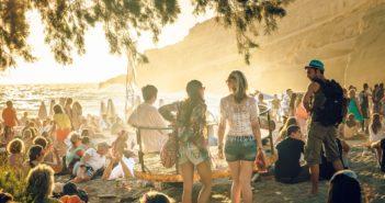 Matala Jugendliche Fest Kreta