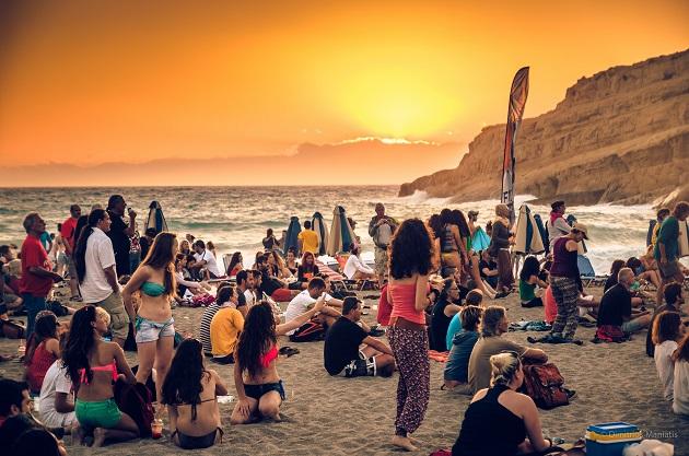 Matala Strand Party