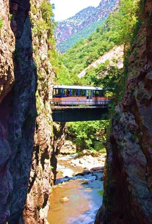 Radzahnbahn Vouraikos KAlavrita Peloponnes Griechenland