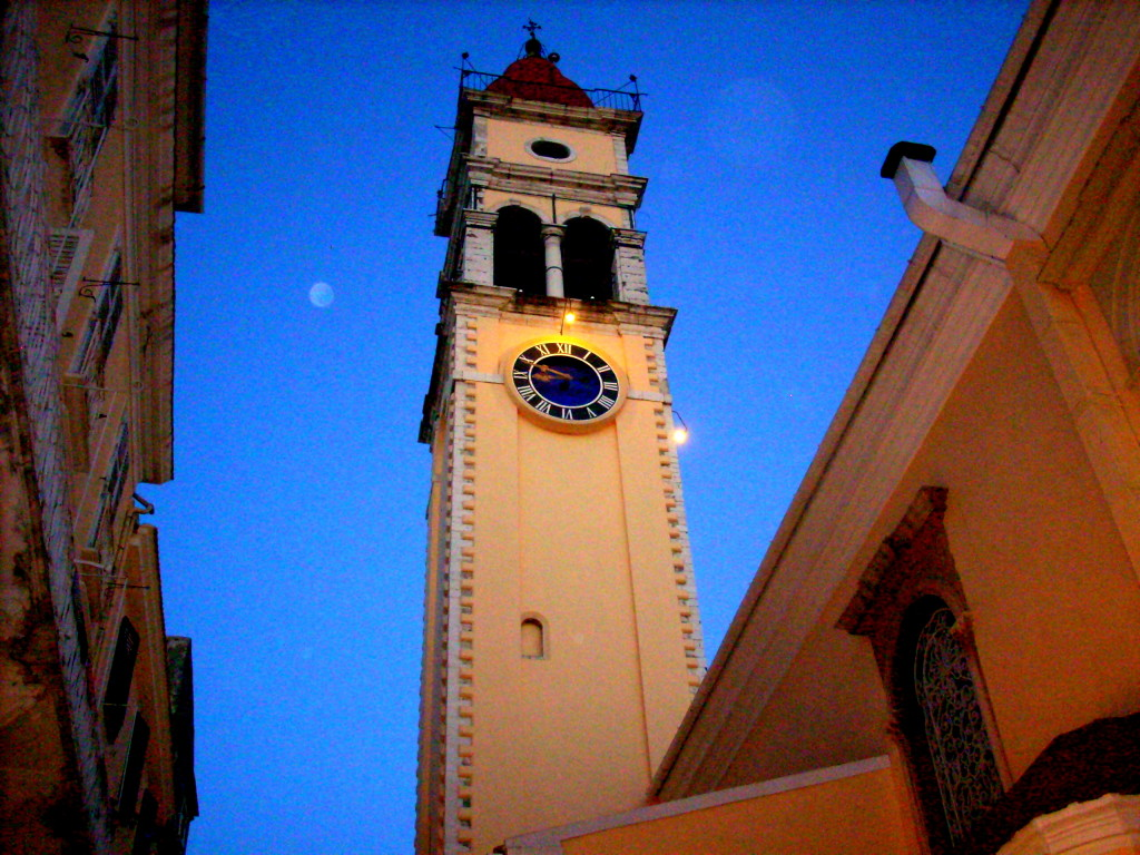 Glockenturm St. Spyridon Korfu Griechenland