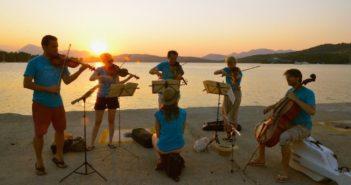 Kammermusikfestival hydra Poros Speises sardonischer golf