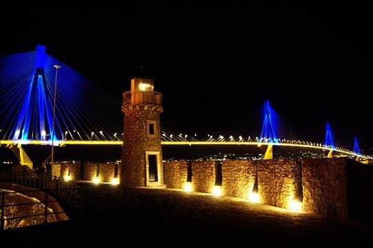 Antirio Leuchtturm Griechenland