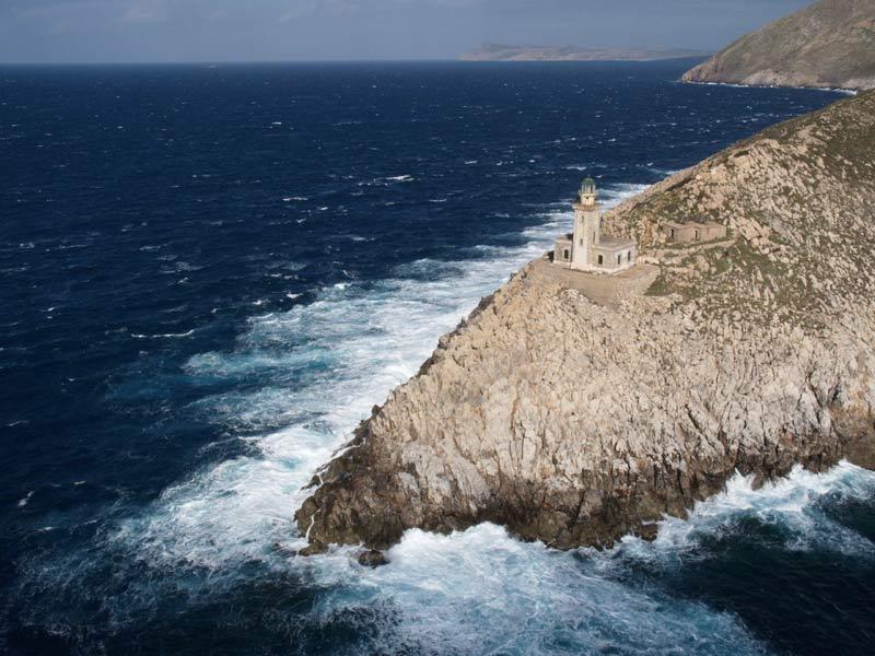 Das Kap Matapan oder Kap Tenaro ist die südlichste Spitze des griechischen Festlandes, der Balkanhalbinsel im südlichen Halbinsel Peloponnes zwischen Laconia und Messinia Bucht.