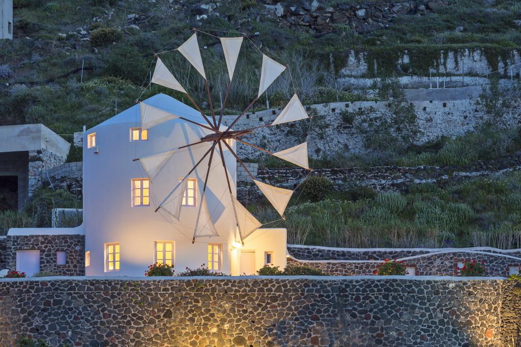 santorini windmühle