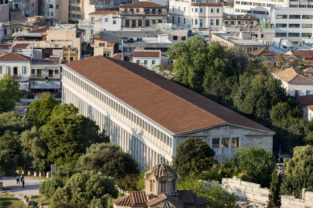 aerial-view-of-ancient-agora-stoa- of-Attalos-in-athens-greece-1024x683