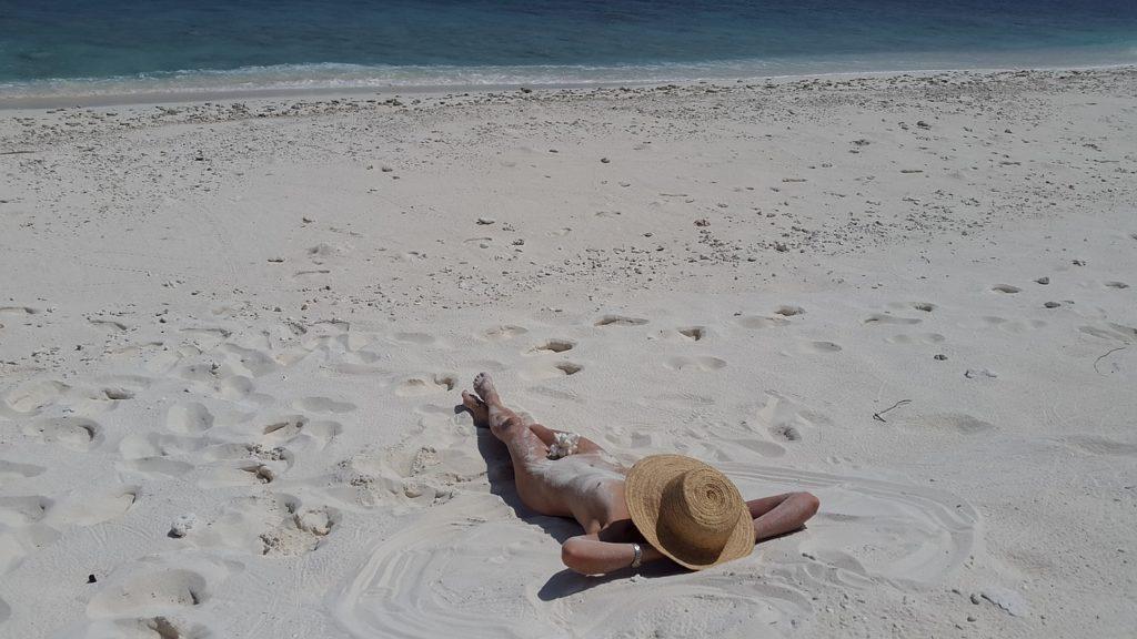 Sandstrand, FKK, Nackt, Meer, Strand, Griechenland