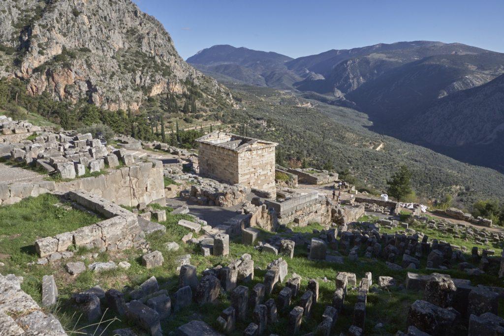 Dlphoi, Delfoi, Griechenland, archäologische Stätte