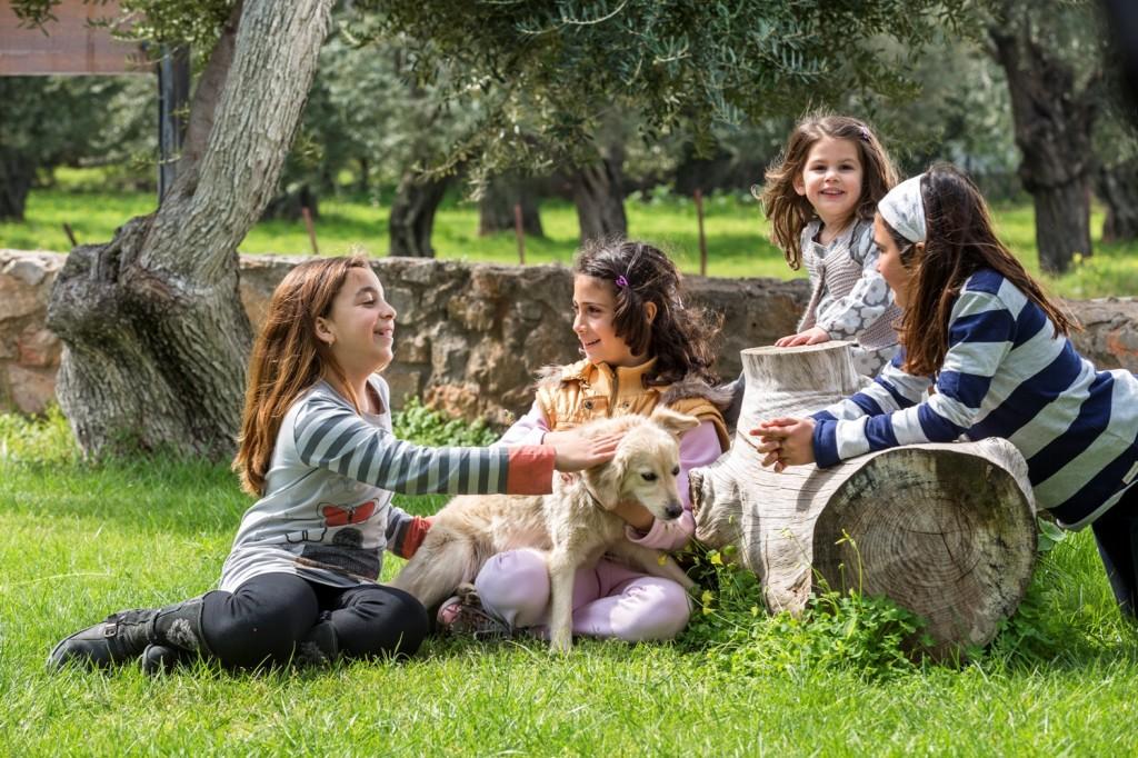 Tipp: Dank der üppigen grünen Umgebung ist Agroktima ideal für die vierbeinigen Freunde!