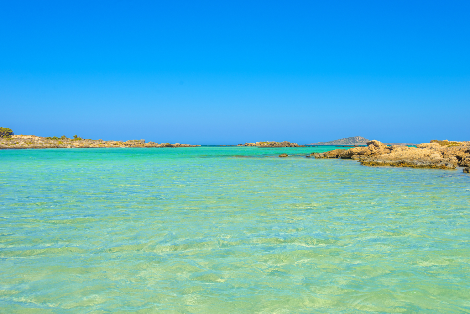 Elafonisi, one of the most famous beaches in the world, Crete, G