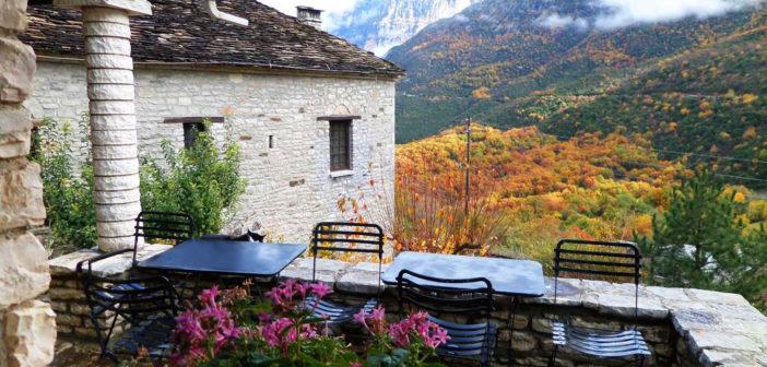 Epirus, Aristi, Herrenhaus, Dorf, Griechenland, Ioannina, Zagorochoria,Unterkunft, Arhontiko